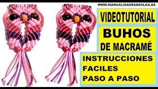 getlinkyoutube.com-COMO HACER UN BUHO DE HILO CON NUDOS DE MACRAME. TUTORIAL DIY. KNOTS OWL .