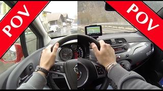 getlinkyoutube.com-Opel Meriva & Abarth 595C Turismo | POV | Patrick3331 Tested/Drives
