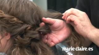 getlinkyoutube.com-Cómo hacer un recogido romántico con pelo rizado