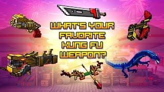 getlinkyoutube.com-Pixel gun world Kung Fu Weapons Gameplay