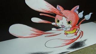 getlinkyoutube.com-妖怪ウォッチアニメジバニャンの絵イラストを動画で描いてみた。妖怪ウォッチジバニャンの秘密と妖怪ウォッチ ジバニャン 必殺技にゃくれつにくきゅうを妖怪ウォッチジバニャン イラスト絵と折り紙