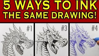 getlinkyoutube.com-5 Ways to Ink the Same Drawing: Narrated Inking Tutorial