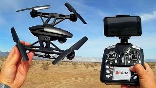 getlinkyoutube.com-JXD 509W Altitude Hold FPV Drone Flight Test Review