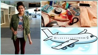 getlinkyoutube.com-Airplane/Traveling Hair, Makeup,Outfit! +My Carry on essentials