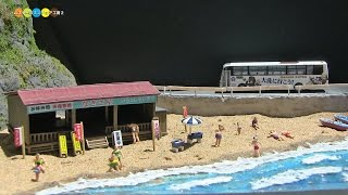 getlinkyoutube.com-Diorama - Miniature Japanese Summer Beach ジオラマ ミニチュア海水浴場作り