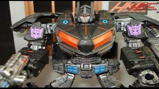 getlinkyoutube.com-Custom NEMESIS PRIME transformers war for cybertron review by Hunter Knight customs