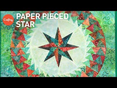 Paper Piecing Stars (FPP 8-Pointed Star) | Quilting Tutorial with Jacqueline de Jonge