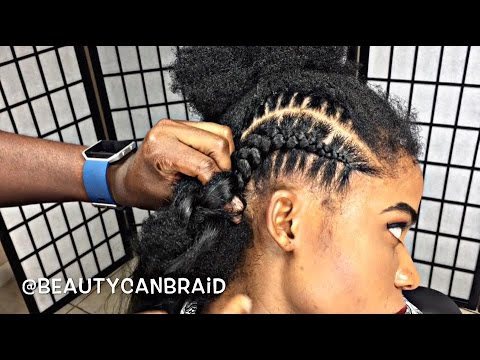 #209. FEED IN BRAIDS WITH OMBRE HAIR