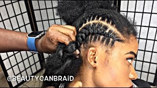 getlinkyoutube.com-#209. FEED IN BRAIDS WITH OMBRE HAIR