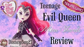 getlinkyoutube.com-Ever After High Mira Shards Doll Review & Unboxing | Teenage Evil Queen - Dragon Games