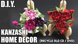 D.I.Y. Kanzashi Home Decor   Recycle Old CD / DVD   MyInDulzens