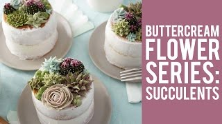 getlinkyoutube.com-How to make Buttercream Flowers: Succulents