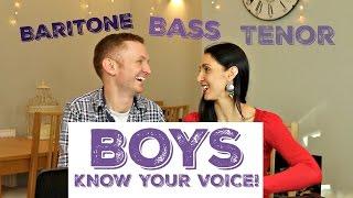 Male Voice Classification: Are you a TENOR, BARITONE, OR BASS? width=