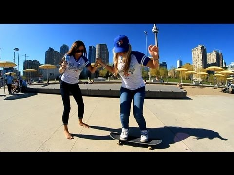 Drunk Chicks Trying To Skate!?! - Skating Downtown Toronto!