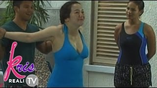 getlinkyoutube.com-Kris Aquino in cleavage-baring swimsuit