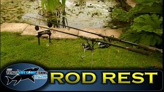 getlinkyoutube.com-How to make a fishing rod rest, cheap, simple & easy -TAFishing Show