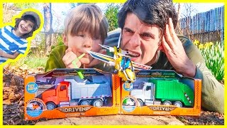 Unboxing Cool New Recycling Truck and Dump Truck