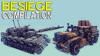 getlinkyoutube.com-►Besiege Compilation - Tanks and trucks