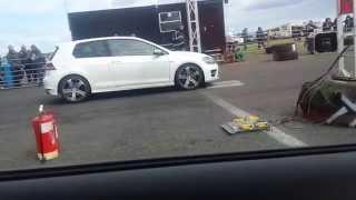 getlinkyoutube.com-Audi S3 Vs VW Golf R MK7 - Crail Raceway