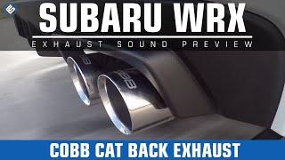 getlinkyoutube.com-COBB Tuning Cat Back Exhaust - 2015 Subaru WRX Exhaust Video