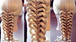 "getlinkyoutube.com-Коса на резинках - ""Калейдоскоп - сердца"" - Pigtail hairstyle"