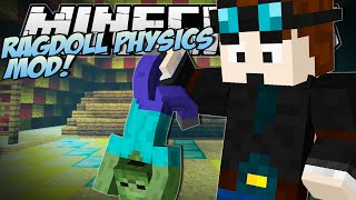 getlinkyoutube.com-Minecraft | RAGDOLL PHYSICS MOD (Epic New Death Animation!) | Mod Showcase