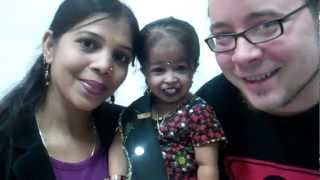 Jyoti (the world's smallest woman) and me.