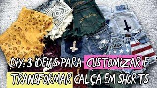 getlinkyoutube.com-Diy: 3 ideias para customizar transformando calça em shorts