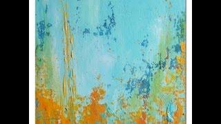 getlinkyoutube.com-Acrylic Painting Demo Acrylmalerei Spachtelarbeit Spackling