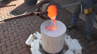 getlinkyoutube.com-Anchor Winch Rebuild - Part 9 - Plaster Block Mold Bronze Casting Failures