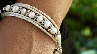 getlinkyoutube.com-How to Make a Leather Wrap Bracelet