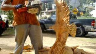 getlinkyoutube.com-speed carving eagle sculpture