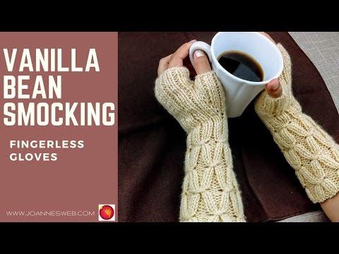 Vanilla Bean Smocking Fingerless Gloves   Start to finish mittens