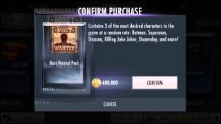 Most Wanted Pack Openings + FREE HACKED WBID | Injustice iOS