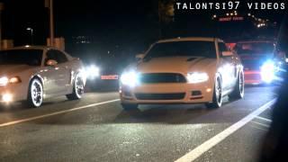 Hellion Twin Turbo Mustang vs. Evo 8 $$ dig race