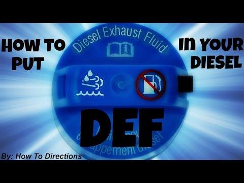 How to Put BlueDEF (Diesel Exhaust Fluid- DEF) in your Diesel Vehicle
