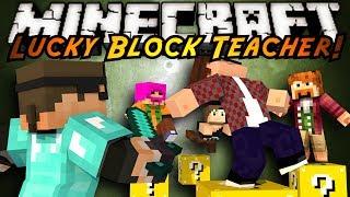 getlinkyoutube.com-Minecraft Mini-Game : MODDED TEACHER! LUCKY BLOCKS!