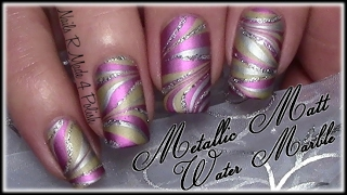 getlinkyoutube.com-Metallic Matt Water Marble Nageldesign / Nail Art Design Tutorial