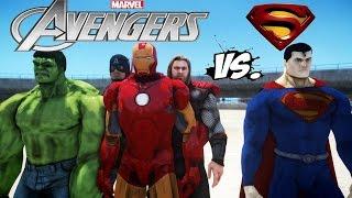 getlinkyoutube.com-THE AVENGERS VS SUPERMAN - IRON MAN, HULK, THOR, CAPTAIN AMERICA VS MAN OF STEEL