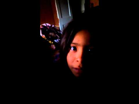 Little girl does a rap