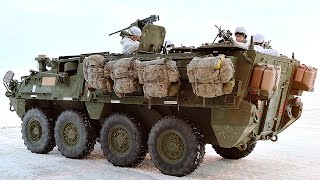 getlinkyoutube.com-US Soldiers & Stryker Vehicles In The Ball Freezing Arctic Circle