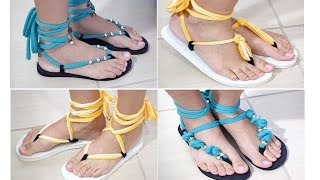 getlinkyoutube.com-DIY: Customização de Chinelo Reaproveitado - Paula Stephânia