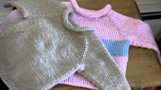 getlinkyoutube.com-Easy Baby Sweater Knitting Patterns Free