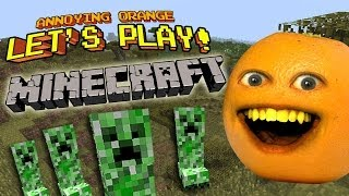 getlinkyoutube.com-Annoying Orange Let's Play! - MINECRAFT