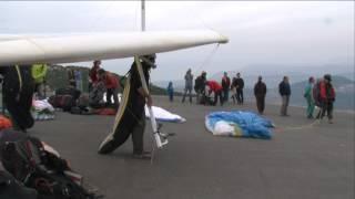 getlinkyoutube.com-Hang gliding take-off accident HaAri Mt. 23/11/2013