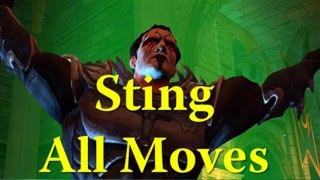 WWE Immortals - Sting ALL MOVES