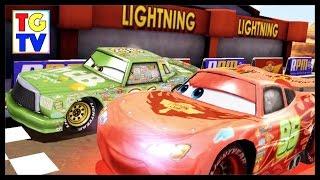 getlinkyoutube.com-Disney Pixar Cars Lightning McQueen Chick Hicks | Cars Fas as Lightning