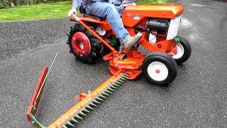 Simplicity 725 Tractor with Sickle Bar Mower