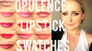 getlinkyoutube.com-Younique Opulence Lipstick Swatches | ALL 15 shades | ndk xo