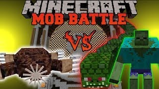 getlinkyoutube.com-GIANT MOLE VS NAGA, MUTANT ZOMBIE, & BULL - Minecraft Mob Battles - Mods